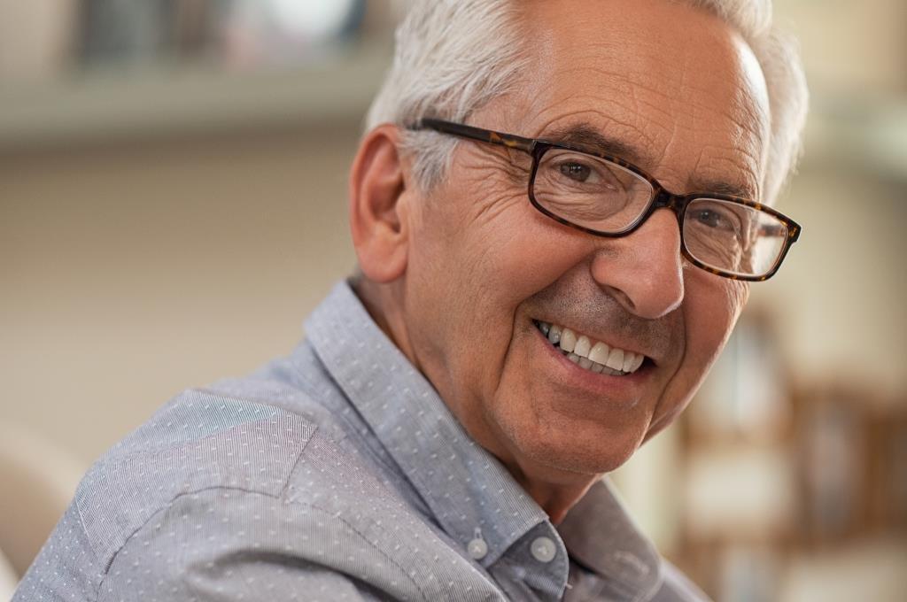best dentist in Melrose MA | Happy elderly man.